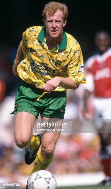 Gary Megson of Norwich City in action during the FA Premier League match between Arsenal and Norwich City at Highbury on August 15 1992 in London...