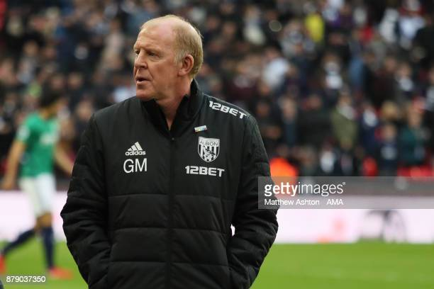Gary Megson the acting head coach / manager of West Bromwich Albion during the Premier League match between Tottenham Hotspur and West Bromwich...