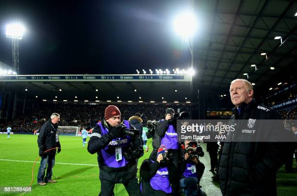 Gary Megson the acting head coach / manager of West Bromwich Albion during the Premier League match between West Bromwich Albion and Newcastle United...