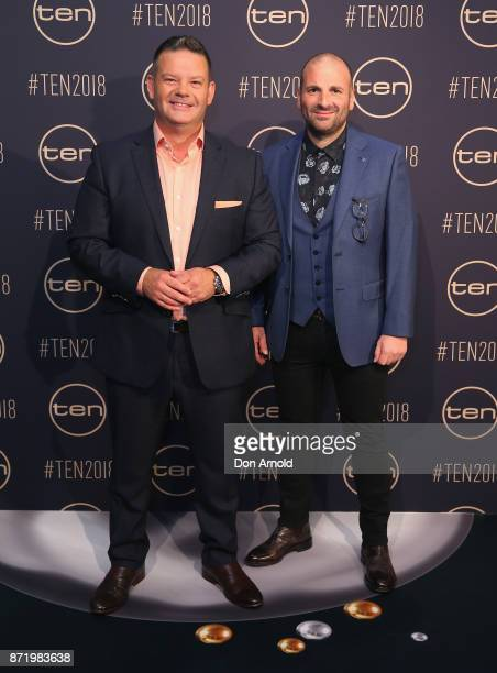 Gary Mehegan and George Colombaris pose during the Network Ten 2018 Upfronts on November 9, 2017 in Sydney, Australia.