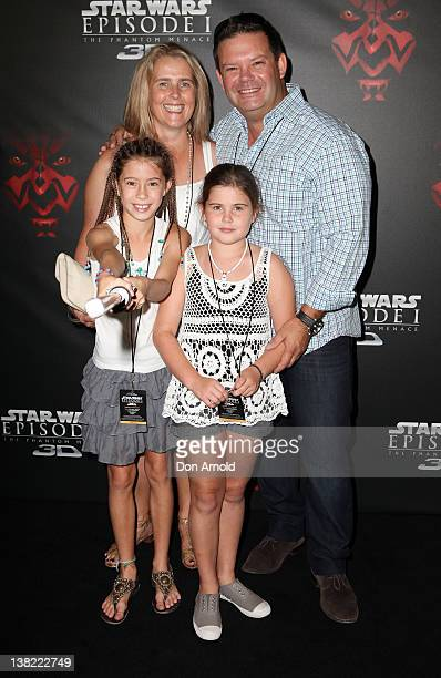Gary Mehigan and wife Mandy stand alongside their two daughters at the 'Star Wars Episode One' 3D Sydney premiere on February 5 2012 in Sydney...