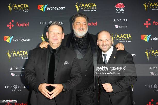 Gary Mehigan Matt Preston and George Calombaris attends the 7th AACTA Awards Presented by Foxtel | Ceremony at The Star on December 6 2017 in Sydney...