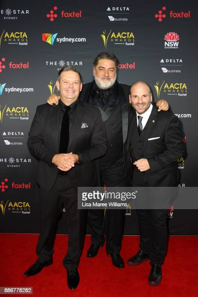Gary Mehigan Matt Preston and George Calombaris attends the 7th AACTA Awards Presented by Foxtel   Ceremony at The Star on December 6 2017 in Sydney...