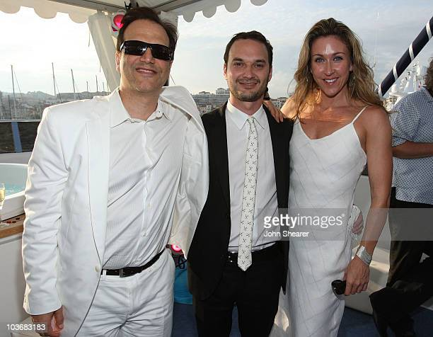 Gary Michael Walters Director Jeff Vespa and Jill Montgomery attend the Nosebleed Cocktail Party held on the Bud Light Yacht during the 61st Cannes...