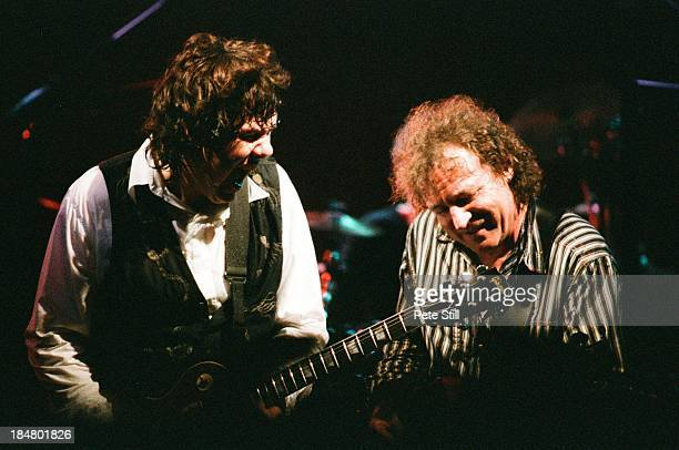 Gary Moore and Jack Bruce of BBM perform on stage at Brixton Academy on June 5th 1994 in London England