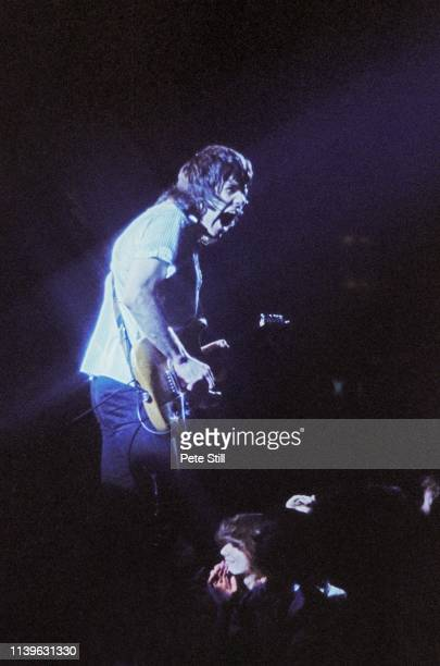 Gary Moore of Thin Lizzy performs on stage at Hammersmith Odeon on April 27th 1979 in London United Kingdom