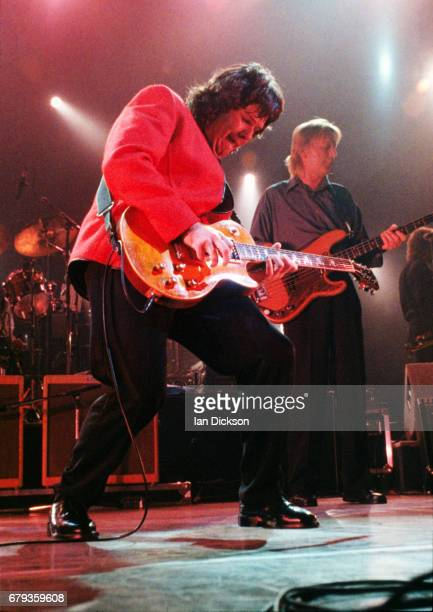 Gary Moore performing on stage at Hammersmith Odeon London 11 May 1990