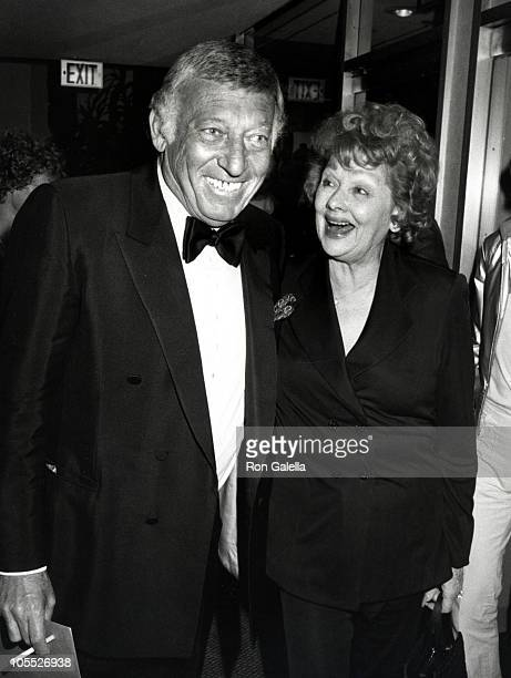 Gary Morton and Lucille Ball during 2nd Annual Vision Awards Honoring Sammy Davis Jr at Century Plaza Hotel in Los Angeles California United States