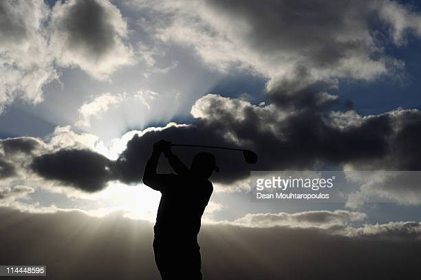 Gary Murphy of Ireland tees of the 1st hole during day two of the Madeira Islands Open on May 20 2011 in Porto Santo Island Portugal