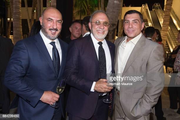 Gary Nader Emilio Estefan Antonio Misuraca Attend The Haute Living Miami's Annual Haute 100 Dinner Presented By Hublot And Prestige Imports at Miami...