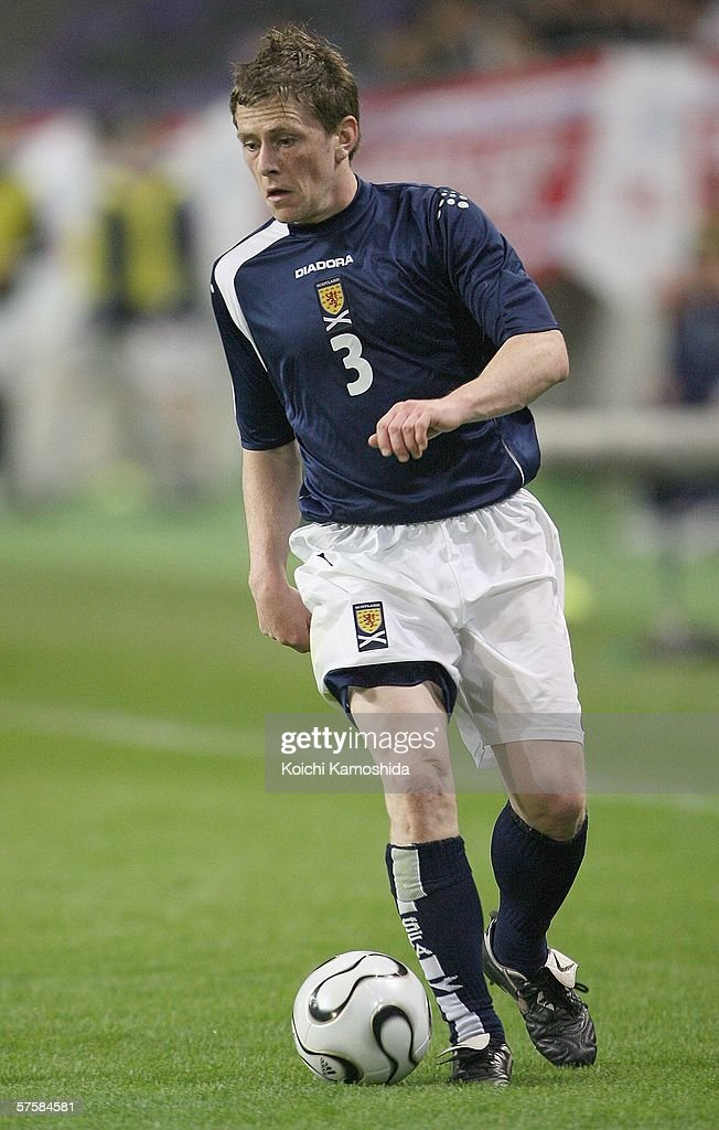 Gary Naysmith of Scotland in action during the Kirin Cup Soccer 2006 between Scotland and Bulgaria, at the Kobe Wing Stadium on May 11, 2006 in Kobe, Japan.