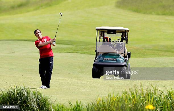 Gary Neville during a Vauxhall Golf Day for the England Football team at The Grove Hotel on May 30 2012 in Hertford England