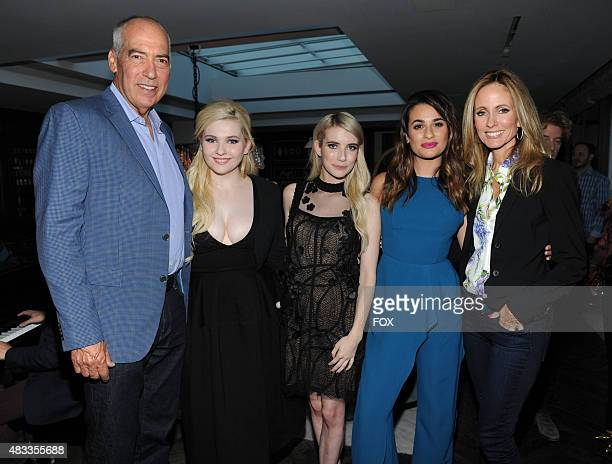 Gary Newman Chairman and CEO Fox Television Group and SCREAM QUEENS cast members Abigail Breslin Emma Roberts Lea Michele and Dana Walden Chairman...