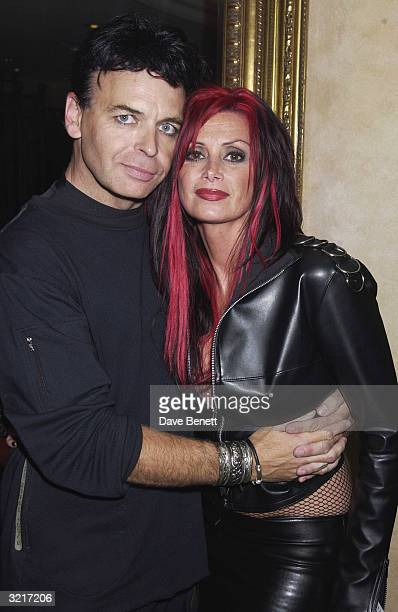 Gary Newman with his wife at the 9th Kerrang Awards held at the Park Lane Hilton Hotel on 27th August 2002 in London