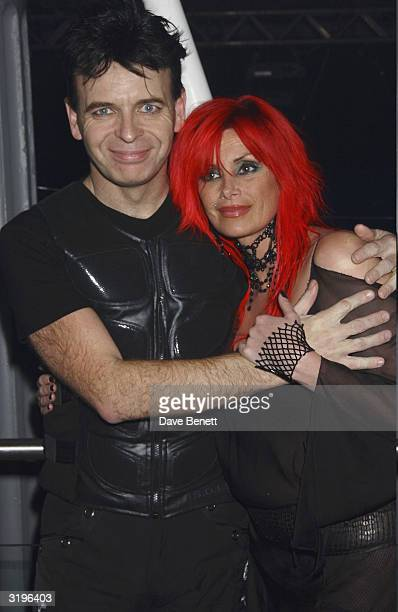 Gary Numan and his wife attend the UK Premiere Party of Lord Of The Rings Return of The King at Old Billingsgate Market on December 11 2003 in London
