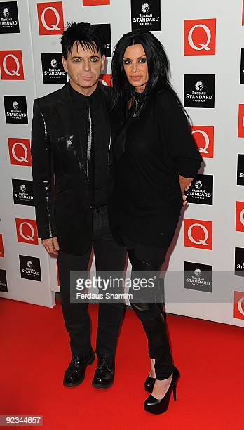 Gary Numan and his wife Gemma Numan attend the Q Awards at The Grosvenor House Hotel on October 26 2009 in London England