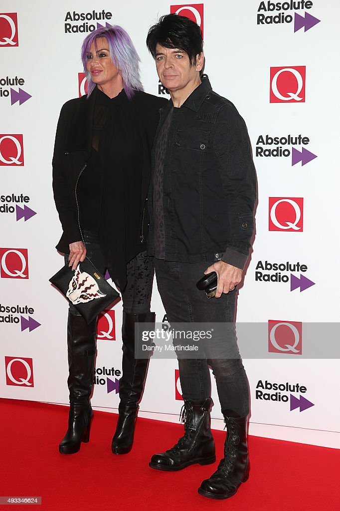 Gary Numan (R) and his wife Gemma O'Neil attend the Q Awards at The Grosvenor House Hotel on October 19, 2015 in London, England.