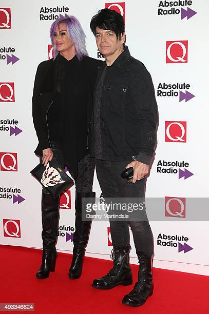 Gary Numan and his wife Gemma O'Neil attend the Q Awards at The Grosvenor House Hotel on October 19 2015 in London England