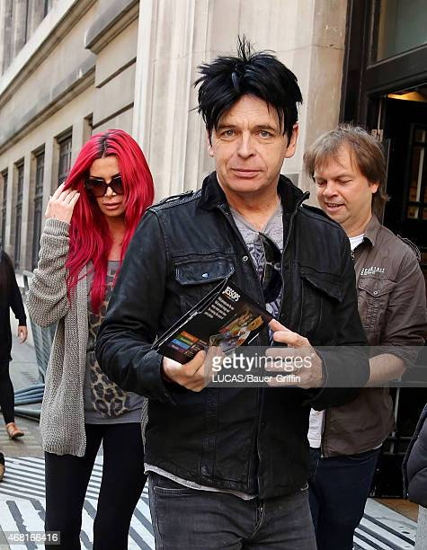 Gary Numan and his wife Gemma O'Neill are seen leaving the BBC Radio 2 Studios on September 23 2012 in London United Kingdom
