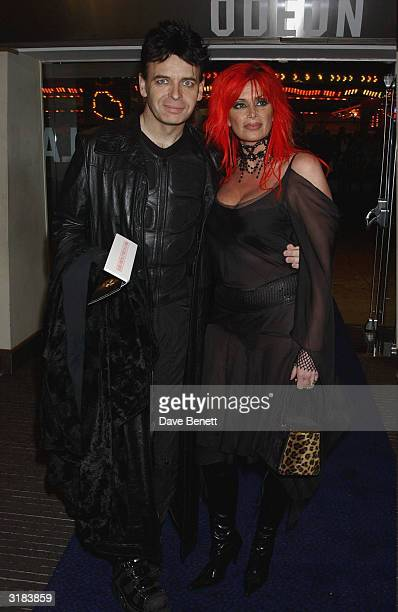 Gary Numan and wife attend the UK Premiere of Lord Of The Rings Return of The King at the Odeon Leicester Square on December 11 2003 in London