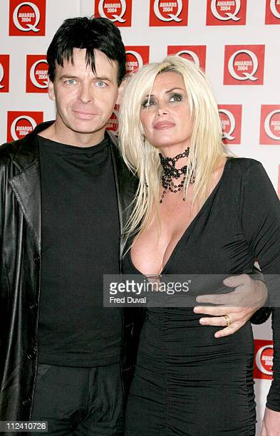 Gary Numan and wife during The 2004 Q Awards Arrivals at Dorchester Hotel in London Great Britain