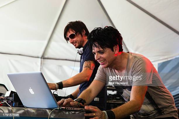 Gary Numan performs a DJ set during the Bumbershoot Music Festival at Seattle Center on August 31 2013 in Seattle Washington