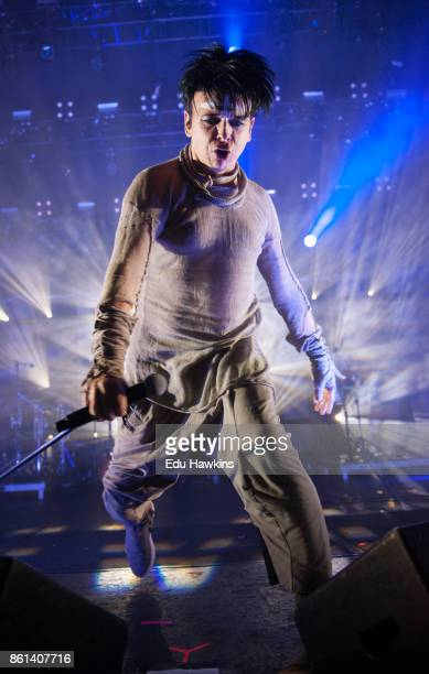 Gary Numan performs live on stage at O2 Brixton Academy on October 14 2017 in London England