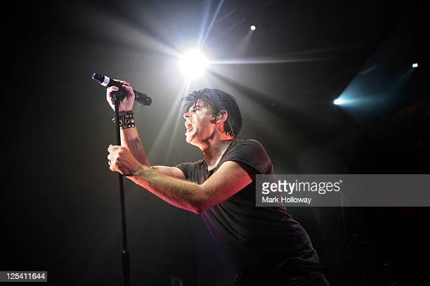 Gary Numan performs on stage at O2 Academy on September 16, 2011 in Bournemouth, United Kingdom.