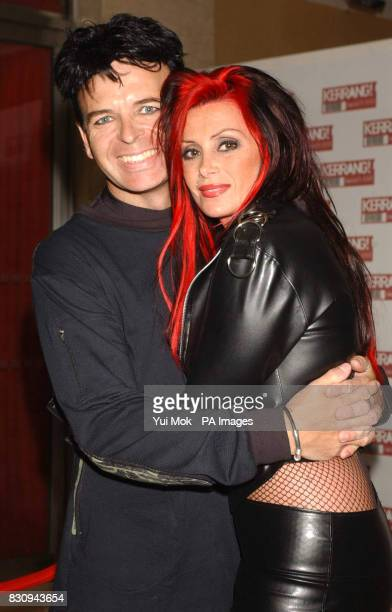 Gary Numan with his wife Gemma arriving at the Hilton Park Lane Hotel in London for the Kerrang Awards
