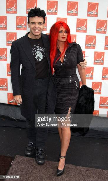 Gary Numan with his wife Gemma arriving at the Old Saatchi Gallery in north London for the Q Awards 2002