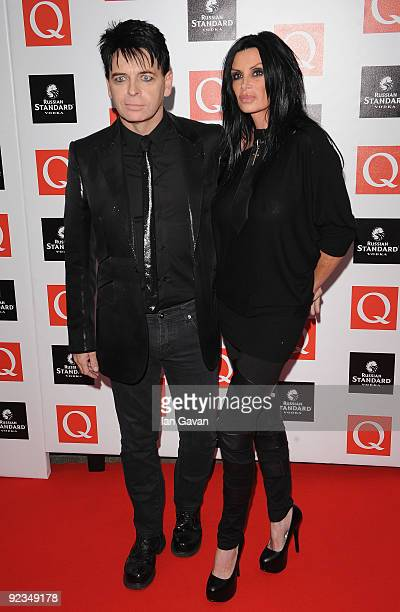 Gary Numan with wife Gemma O'Neill attends the Q Awards 2009 at the Grosvenor House Hotel on October 26 2009 in London England