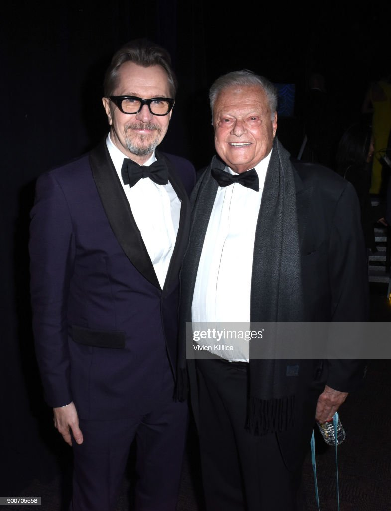 Gary Oldman and Chairman of the Palm Springs International Film Festival Harold Matzner attend the 29th Annual Palm Springs International Film Festival at Palm Springs Convention Center on January 2, 2018 in Palm Springs, California.