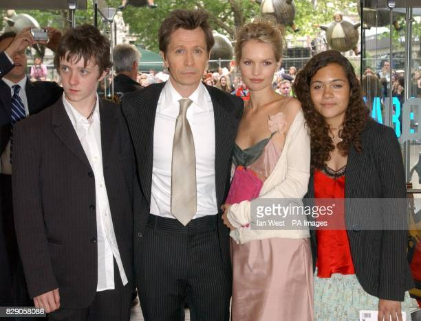 Gary Oldman and family arrives for the UK premiere of Harry Potter And The Prisoner of Azkaban at the Odeon Leicester Square in Central London the...