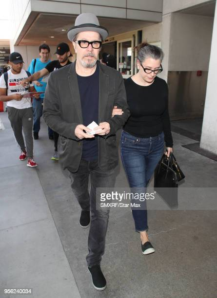 Gary Oldman and Gisele Schmidt are seen on May 8 2018 in Los Angeles CA