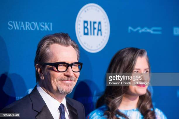 Gary Oldman and Gisele Schmidt arrive for The British Independent Film Awards at Old Billingsgate in London