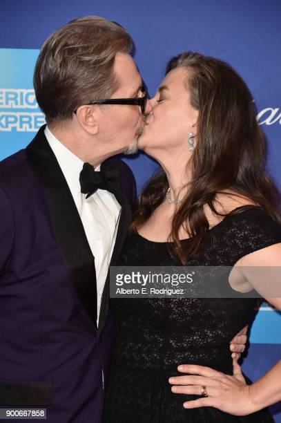 Gary Oldman and Gisele Schmidt attend the 29th Annual Palm Springs International Film Festival Awards Gala at Palm Springs Convention Center on...