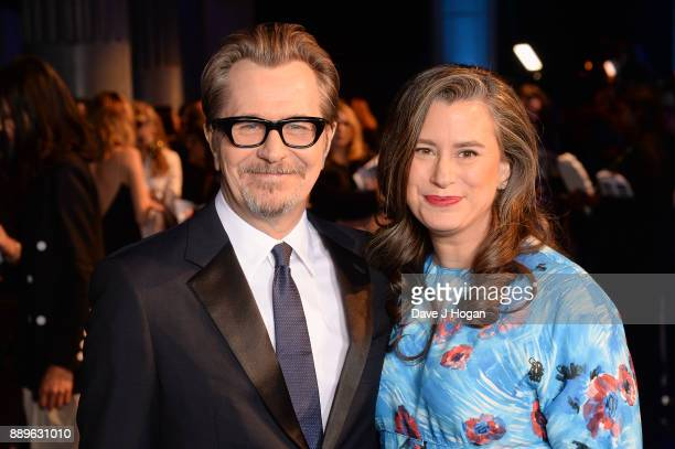 Gary Oldman and Gisele Schmidt attend the British Independent Film Awards held at Old Billingsgate on December 10 2017 in London England