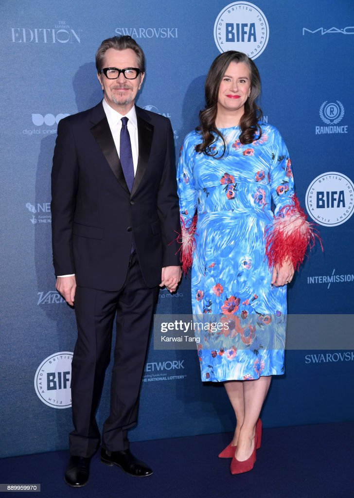 Gary Oldman and Gisele Schmidt attend the British Independent Film Awards held at Old Billingsgate on December 10, 2017 in London, England.