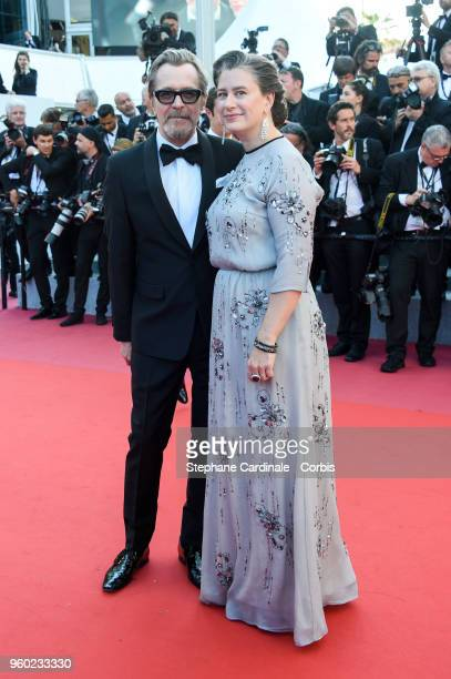 Gary Oldman and Gisele Schmidt attend the Closing Ceremony and the screening of The Man Who Killed Don Quixote during the 71st annual Cannes Film...