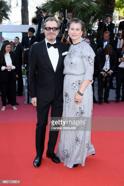 Gary Oldman and Gisele Schmidt attend the Closing Ceremony screening of The Man Who Killed Don Quixote during the 71st annual Cannes Film Festival at...