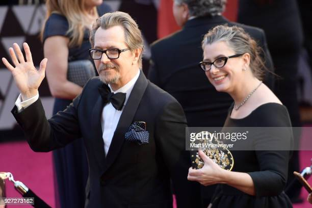 Gary Oldman and Gisele Schmidt attends the 90th Annual Academy Awards at Hollywood Highland Center on March 4 2018 in Hollywood California