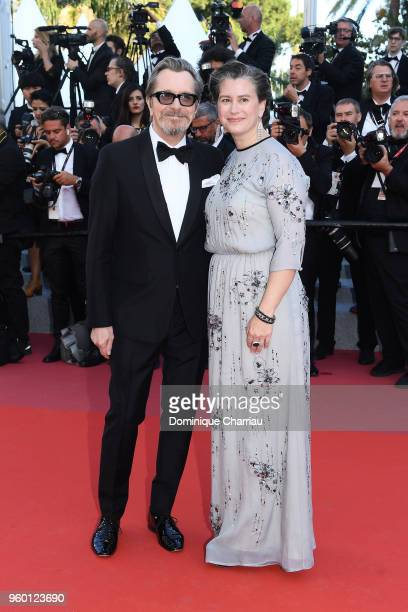 Gary Oldman and Gisele Schmidt attends the Closing Ceremony screening of The Man Who Killed Don Quixote during the 71st annual Cannes Film Festival...