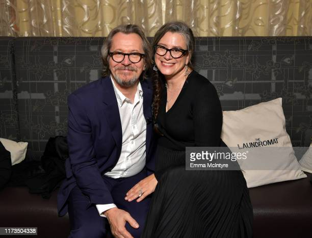 Gary Oldman and Gisele Schmidt attends the North American Premiere of 'The Laundromat' at the The Princess of Wales Theatre on September 09 2019 in...