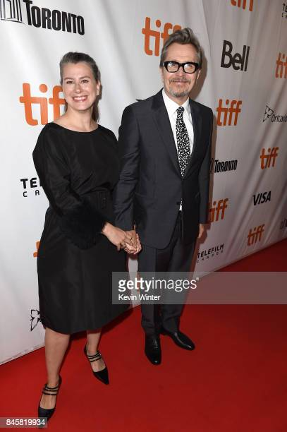Gary Oldman and guest attend the Darkest Hour premiere during the 2017 Toronto International Film Festival at Roy Thomson Hall on September 11 2017...