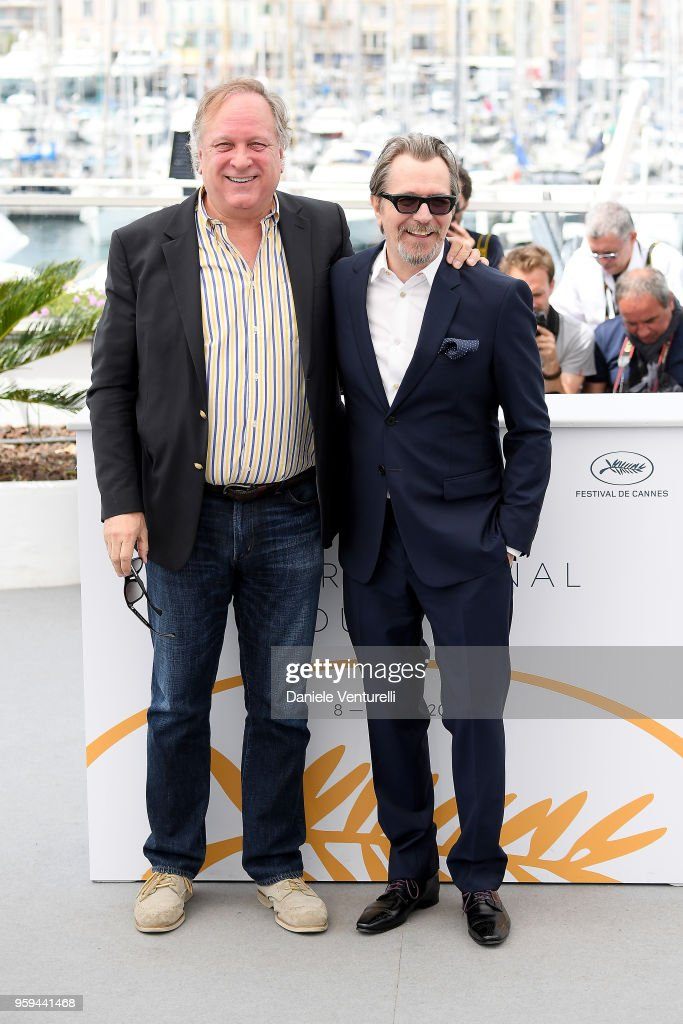 Gary Oldman (R) and guest attend the photocall for Rendez-Vous With Gary Oldman during the 71st annual Cannes Film Festival at Palais des Festivals on May 17, 2018 in Cannes, France.