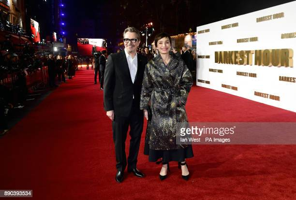 Gary Oldman and Kristin Scott Thomas attending the Darkest Hour Premiere held at the Odeon Leicester Square London