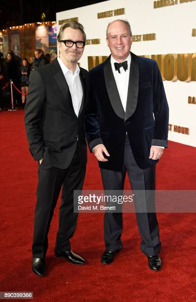 Gary Oldman and Randolph Churchill attend the UK Premiere of 'Darkest Hour' at Odeon Leicester Square on December 11 2017 in London England