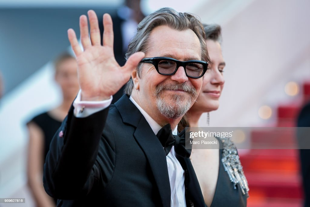 Gary Oldman and wife Gisele Schmidt attend the screening of 'Capharnaum' during the 71st annual Cannes Film Festival at Palais des Festivals on May 17, 2018 in Cannes, France.