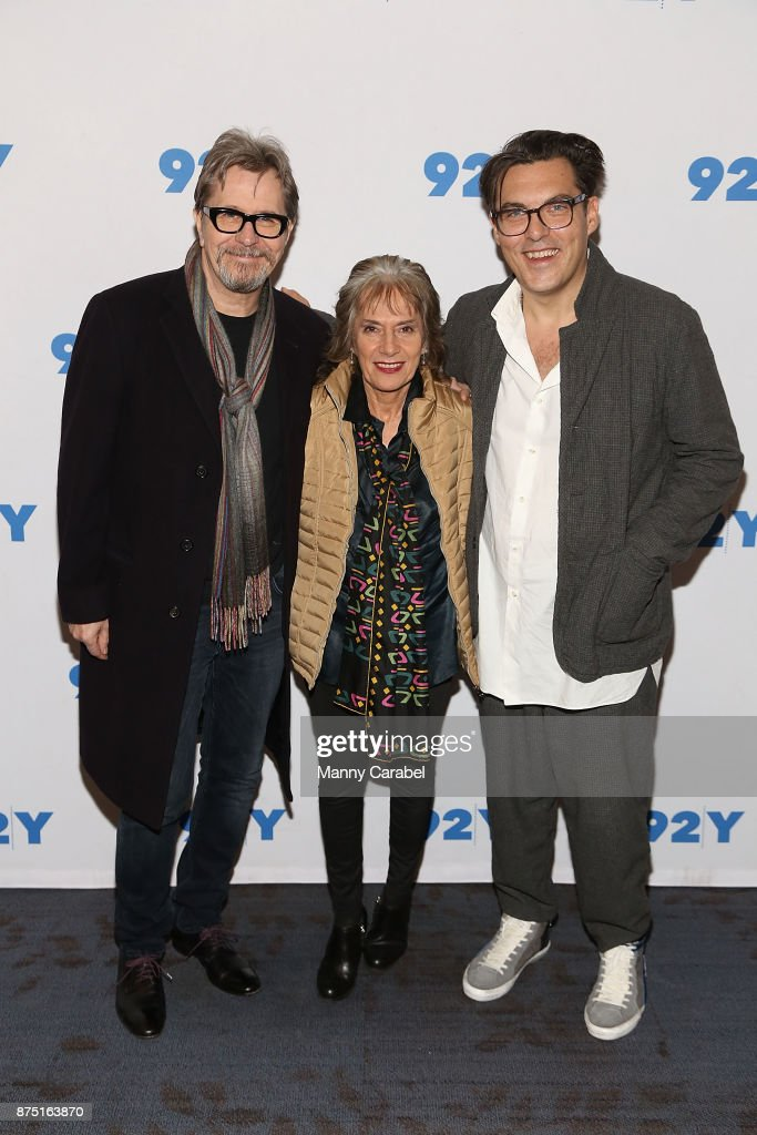 Gary Oldman, Annette Insdorf and Joe Wright attend 92nd Street Y Preview Screening of 'Darkest Hour' at 92nd Street Y on November 16, 2017 in New York City.