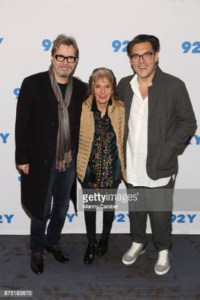 Gary Oldman Annette Insdorf and Joe Wright attend 92nd Street Y Preview Screening of Darkest Hour at 92nd Street Y on November 16 2017 in New York...